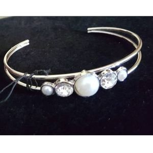 Wedding waltz white paparazzi bracelet